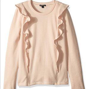 J. Crew Mercantile Blush Pink Ruffle Sweatshirt